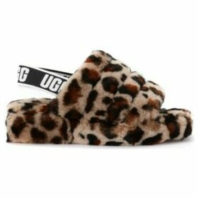 UGG  Ugg Fluff Yeah sandal slipper made of soft leopard leather  women's Slippers in Other