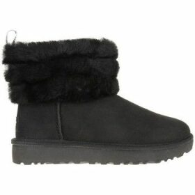 UGG  Fluff Mini Quilted  women's Snow boots in Black