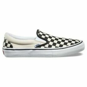 Vans  Slipon Pro Checkerboard  women's Slip-ons (Shoes) in White