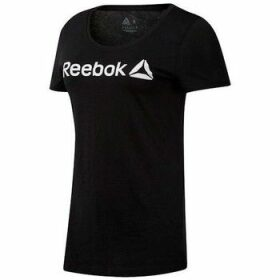 Reebok Sport  Linear Read Scoop  women's T shirt in Black