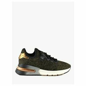 Ash Krush Bis Knitted Trainers, Black/Gold