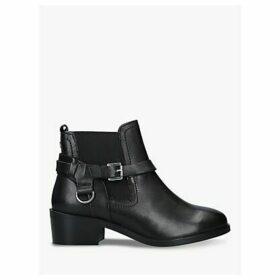 Carvela Saddles Leather Ankle Boots, Black