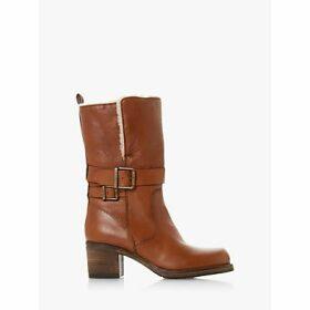 Dune Rokoko Borg Collar Leather Calf Boots