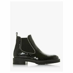Dune Prestige Croc Patent Leather Ankle Boots