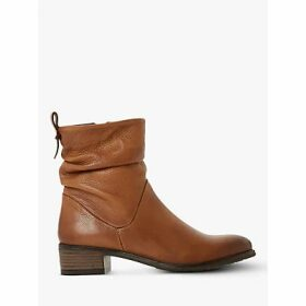 Dune Pagerss 2 Ruched Block Heel Leather Ankle Boots