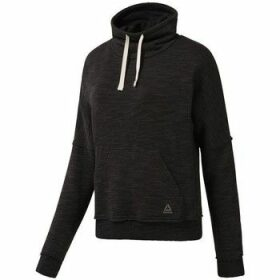 Reebok Sport  Marble Cowl Neck  women's Sweatshirt in Black
