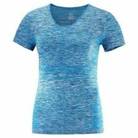 Salomon  Elevate Moveon  women's T shirt in Blue