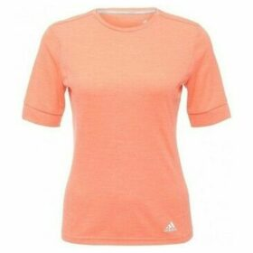 adidas  Tshirt Short Sleeves Supernova  women's T shirt in Orange