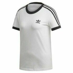 adidas  3STRIPES Tee  women's T shirt in White