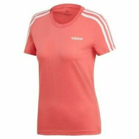 adidas  W E 3S Slim Tee  women's T shirt in Pink