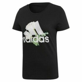 adidas  MH Flower Tee  women's T shirt in multicolour