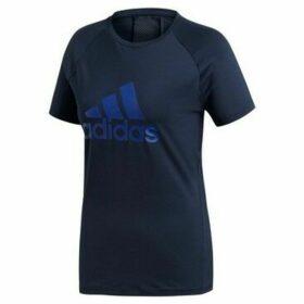 adidas  D2M Logo Tee  women's T shirt in multicolour
