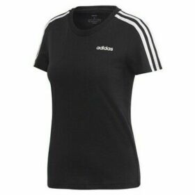 adidas  W Essential 3S Slim Tee  women's T shirt in Black
