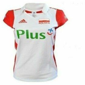 adidas  Polo W Poland Volleyball  women's Polo shirt in multicolour