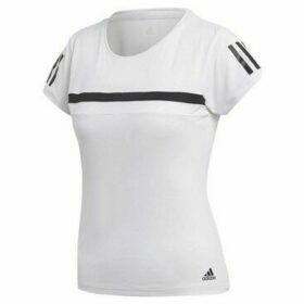 adidas  Club Tee  women's T shirt in White