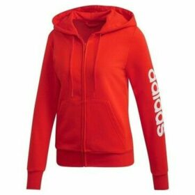 adidas  Essentials Linear  women's Sweatshirt in Red