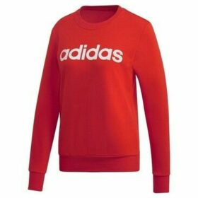 adidas  W Essentials Linear Crewneck  women's Sweatshirt in Red