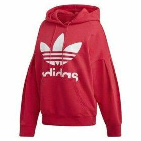 adidas  Hoodie  women's Sweatshirt in Red