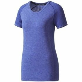 adidas  Primeknit Wool  women's T shirt in Purple