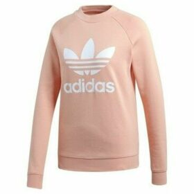 adidas  Trefoil Crew Sweat  women's Sweatshirt in Pink