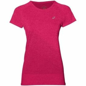 Asics  Texture  women's T shirt in Pink