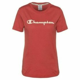 Champion  Crewneck Tshirt  women's T shirt in Red