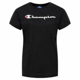 Champion  Crewneck Tshirt  women's T shirt in Black