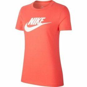 Nike  Tee Essential Icon Futura  women's T shirt in Orange