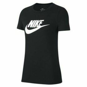 Nike  Essential Icon Futura  women's T shirt in Black