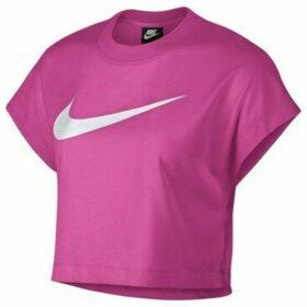Nike  Swoosh Top Crop  women's Blouse in Pink