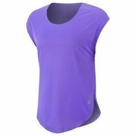 Nike  W City Sleek Top SS  women's T shirt in Purple
