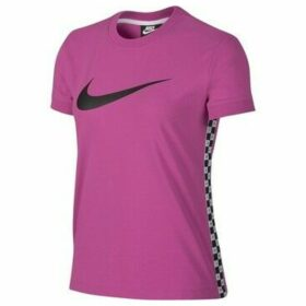 Nike  Hyp FM Top SS  women's T shirt in Pink