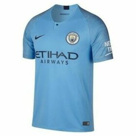 Nike  Manchester City Breathe Stadium H  women's T shirt in Blue