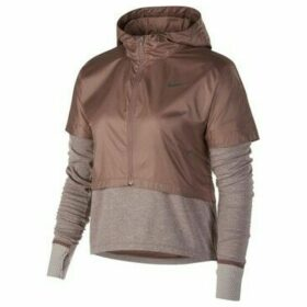 Nike  Therma Longsleeve Top W  women's Sweatshirt in Brown