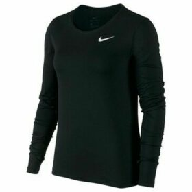 Nike  Top LS All Over Mesh  women's Sweatshirt in Black