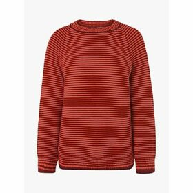 L.K.Bennett Samara Striped Rib Knit Jumper, Orange