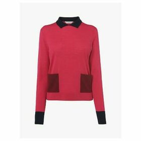 L.K.Bennett Melanie Colour Block Jumper, Pink/Multi