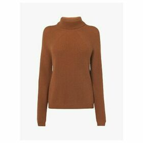 L.K.Bennett Lulumay Wool Blend Funnel Neck Jumper, Camel