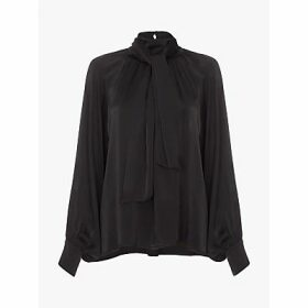Ghost Mona Satin Blouse, Black