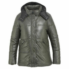 Oakwood  Quilted leather down jacketSPEARS  women's Coat in Green