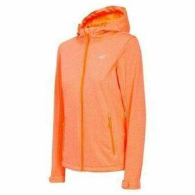4F  H4L19 SFD001 Koral Melanż  women's Tracksuit jacket in Orange