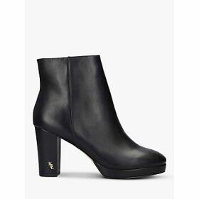 Kurt Geiger London Rome Block Heel Leather Ankle Boots, Black