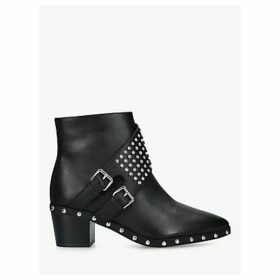 Kurt Geiger London Seth Studded Leather Ankle Boots, Black