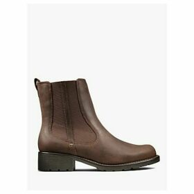 Clarks Orinoco Nubuck Leather Chelsea Ankle Boots