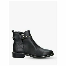 Carvela Span Leather Buckle Ankle Boots, Black