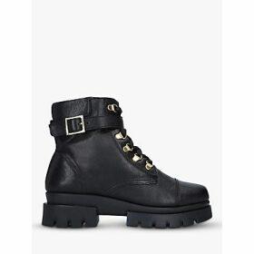 Carvela Comfort Run Leather Hiker Boots, Black