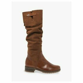 Gabor Dixie Wide Fit Suede Leather Knee High Boots, Cognac