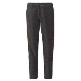 Maison Scotch  TAPERED LUREX PANTS WITH VELVET SIDE PANEL  women's Trousers in Grey