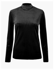 M&S Collection Chevron Fitted Long Sleeve Top