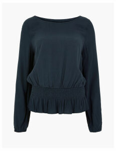 M&S Collection Smocked Waist Blouse